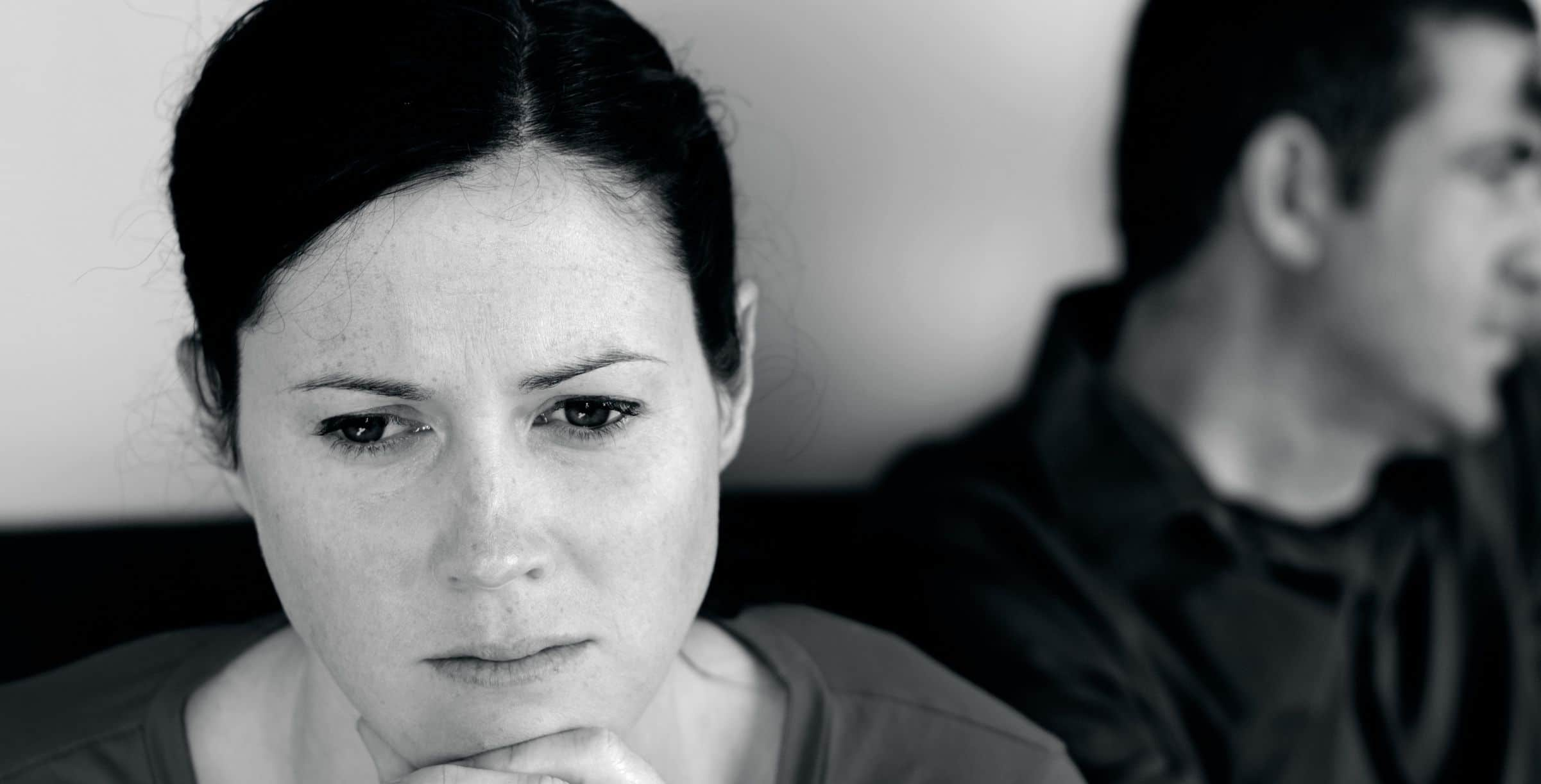 couple counselling - woman looking sad